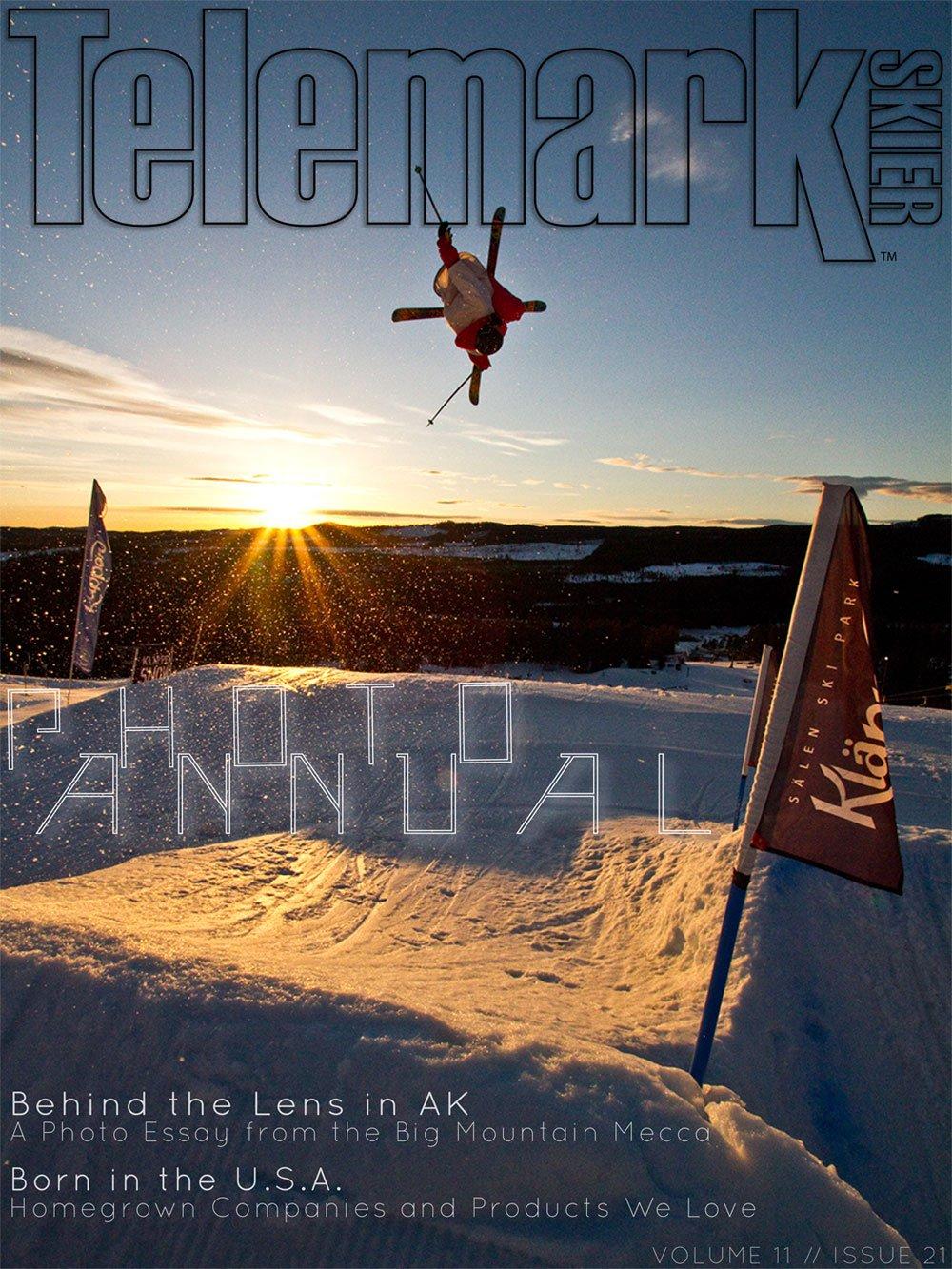 Andreas Sjöbeck - Telemark Skier Cover December