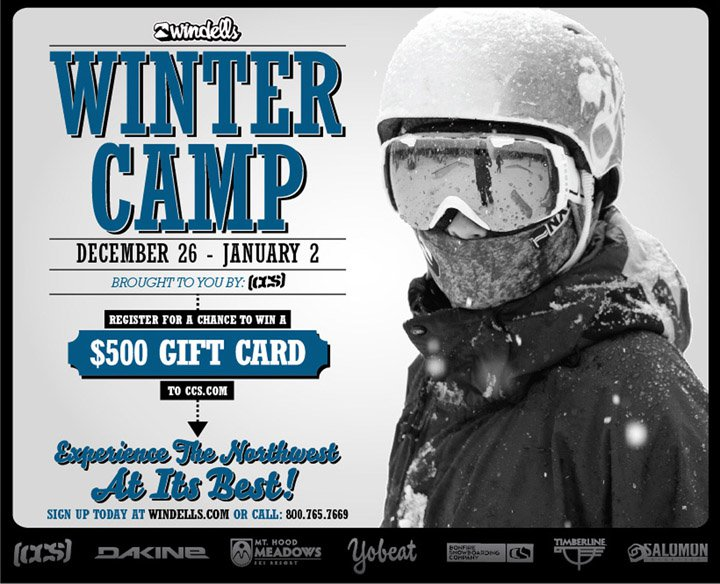 Windells Winter Camp Dec 26 - Jan 2nd!