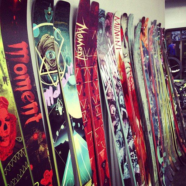 ski wall @ ratking bikes & freeski