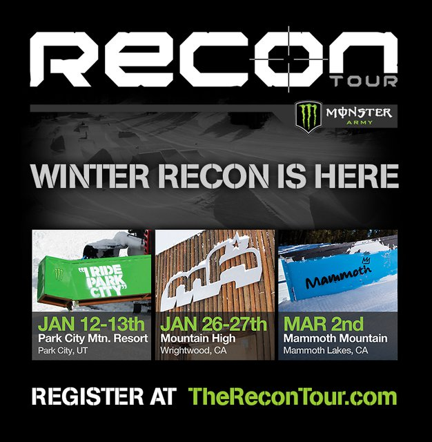 Monster Energy Sponsors Winter Recon Tour
