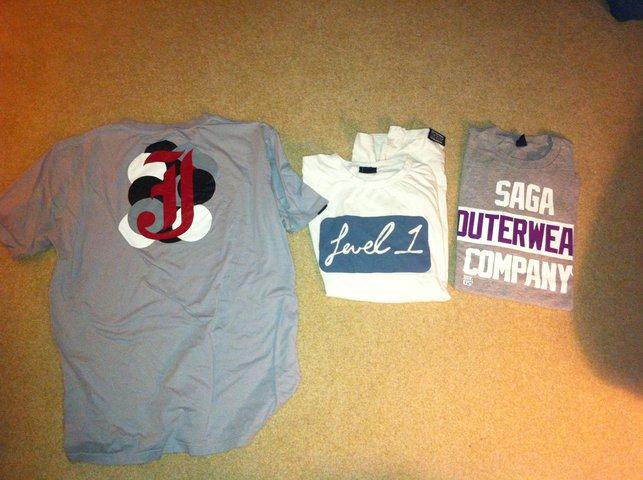 saga/jib tshirts