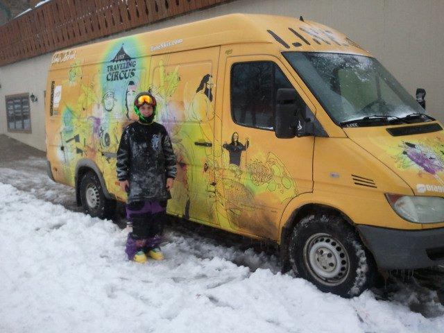 Line Travelling Circus Van