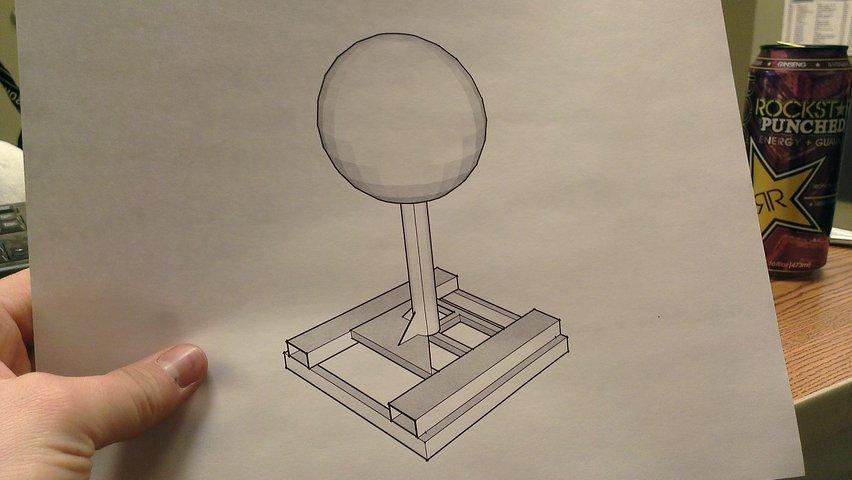 Sketchup of Lollipop Bonk