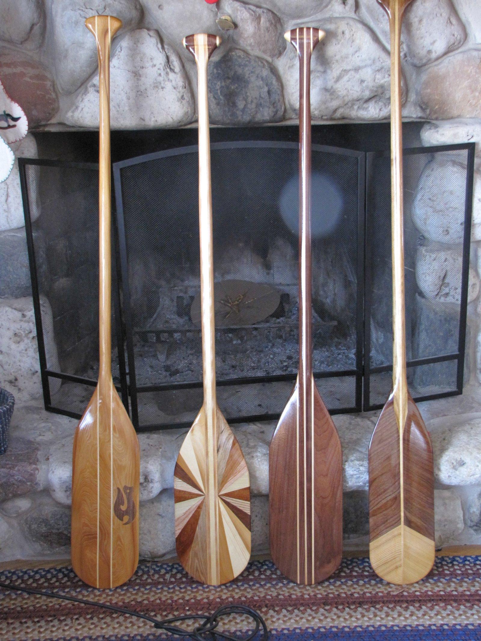 Hand made canoe paddles