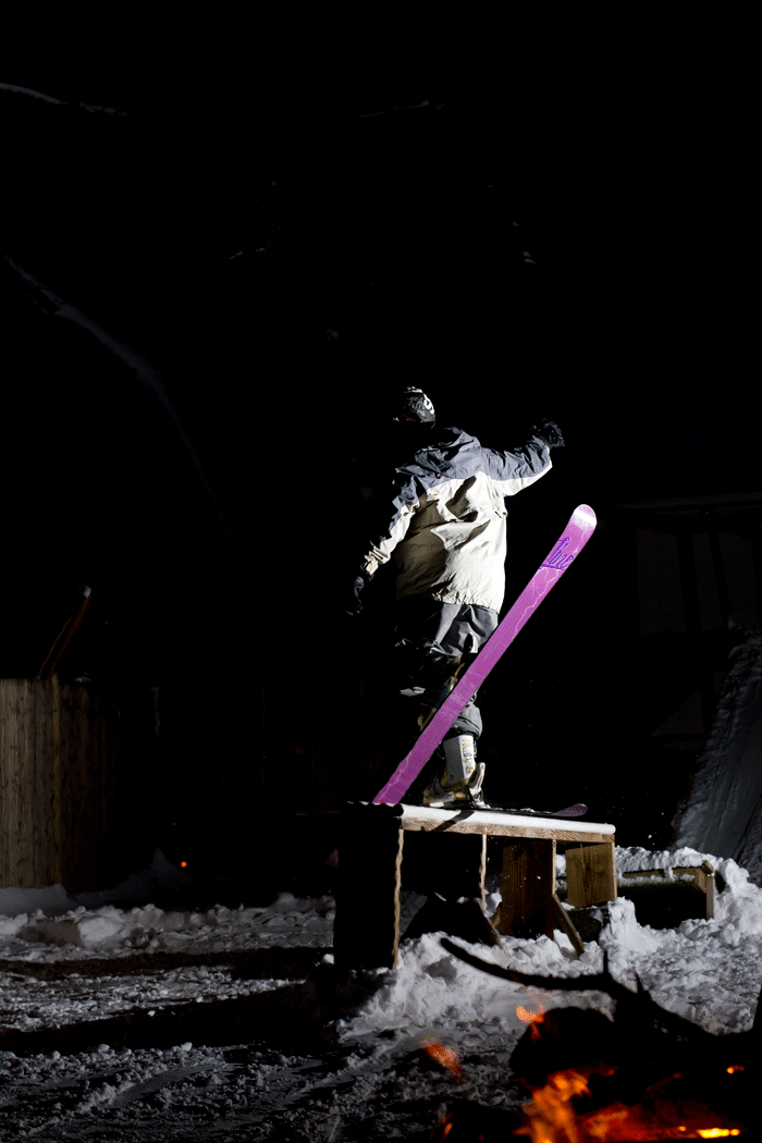 Backyard Skiing!