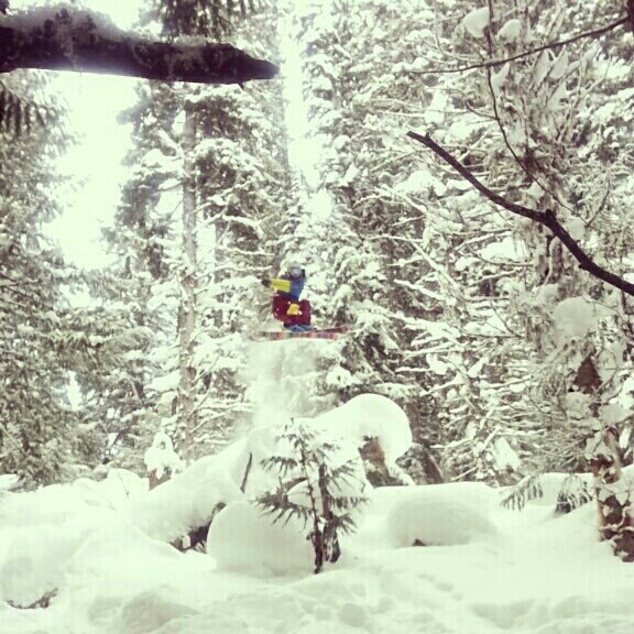 Getting some airtime in fernie.