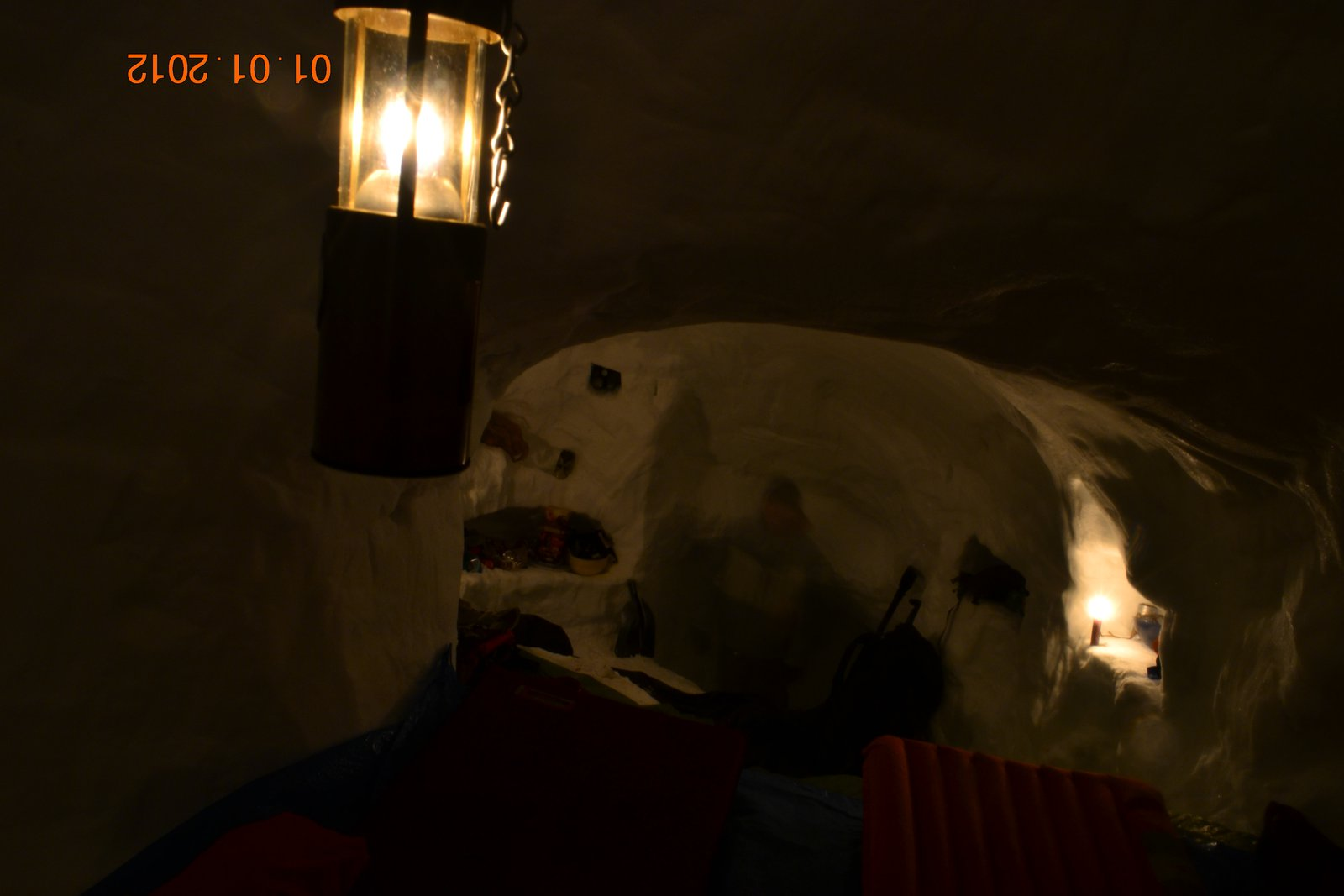 new years snow cave