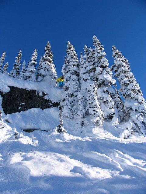 fun little cliff in million dollar ridge