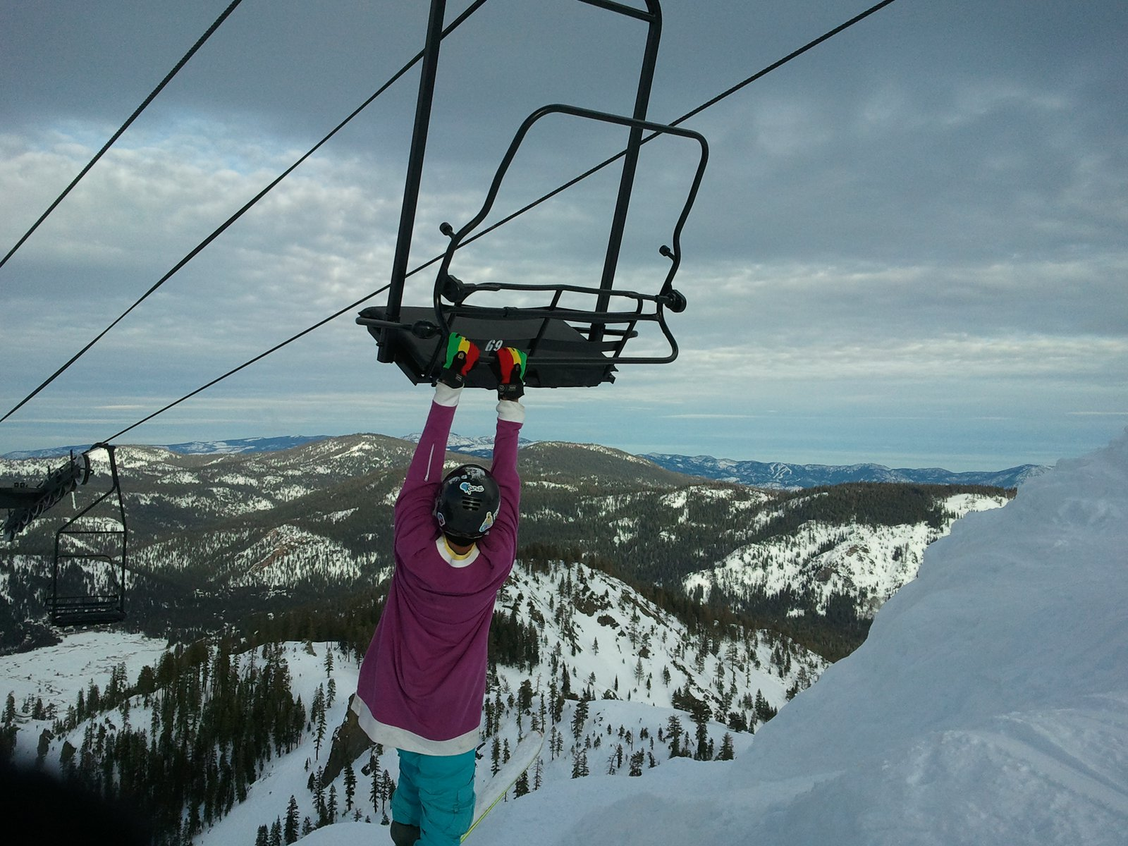 Chairlift grab