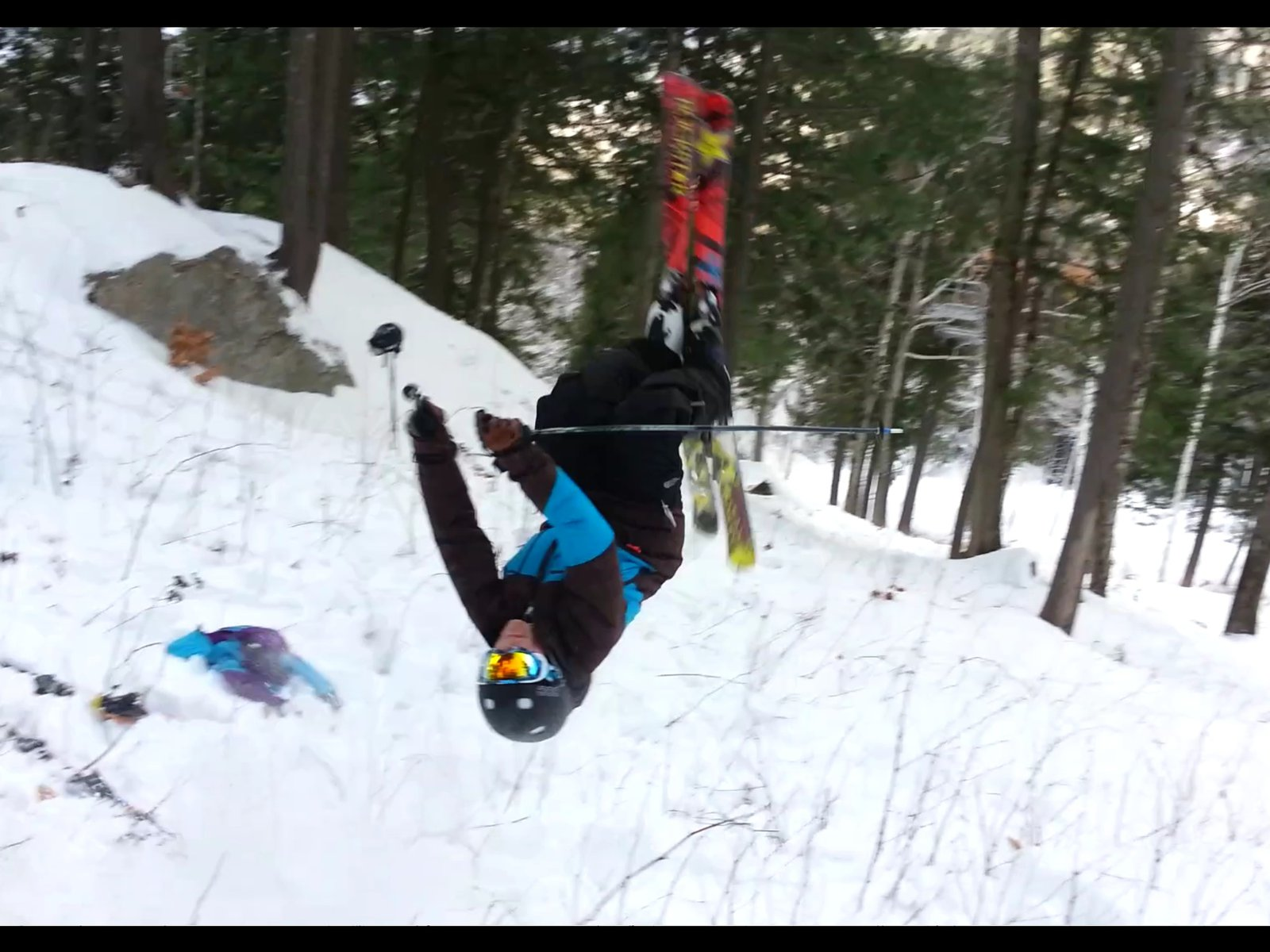 Backflip in woods