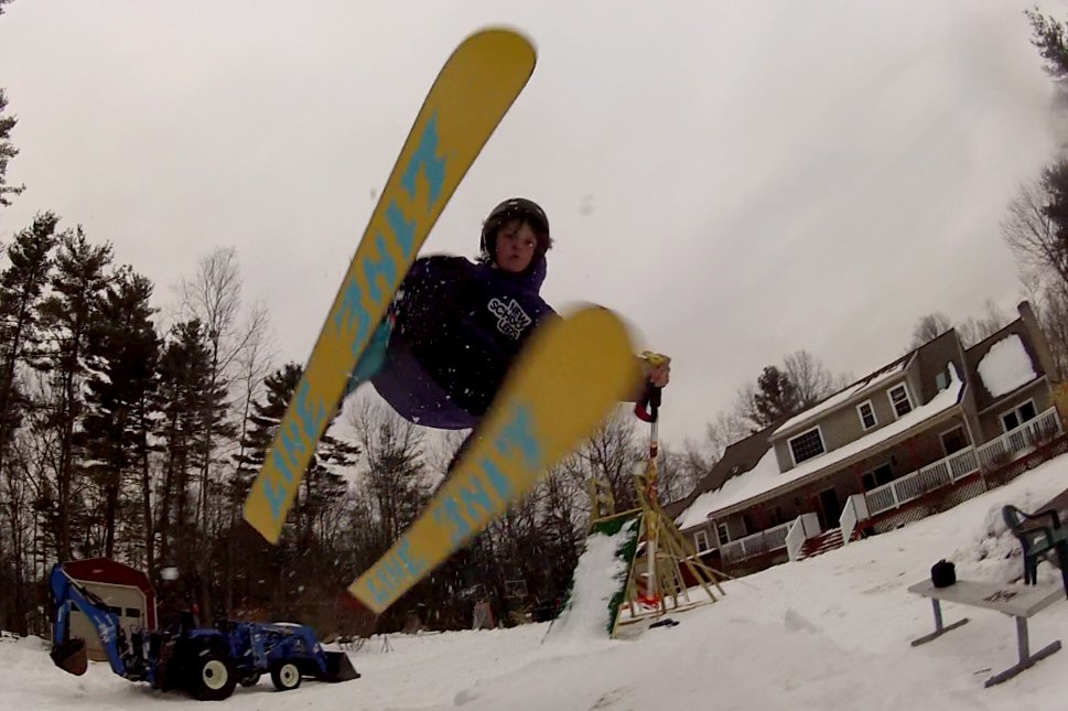 Backyard skiing transfer