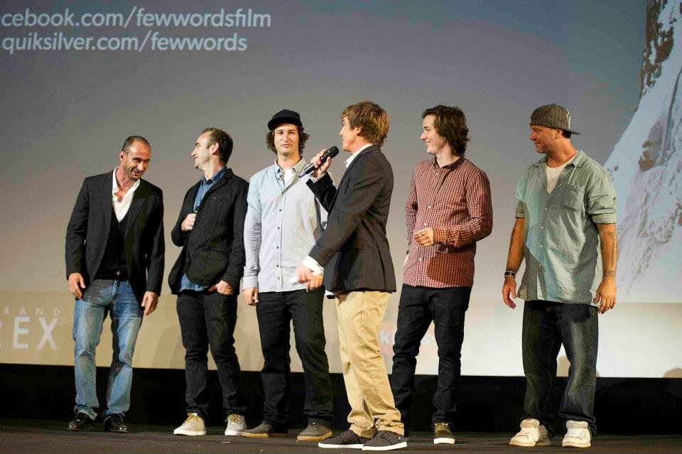 on stage at the FEW WORDS premiere
