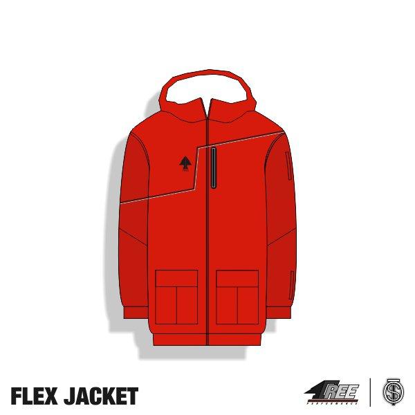 Flex Jacket Red-Darkred front.jpg