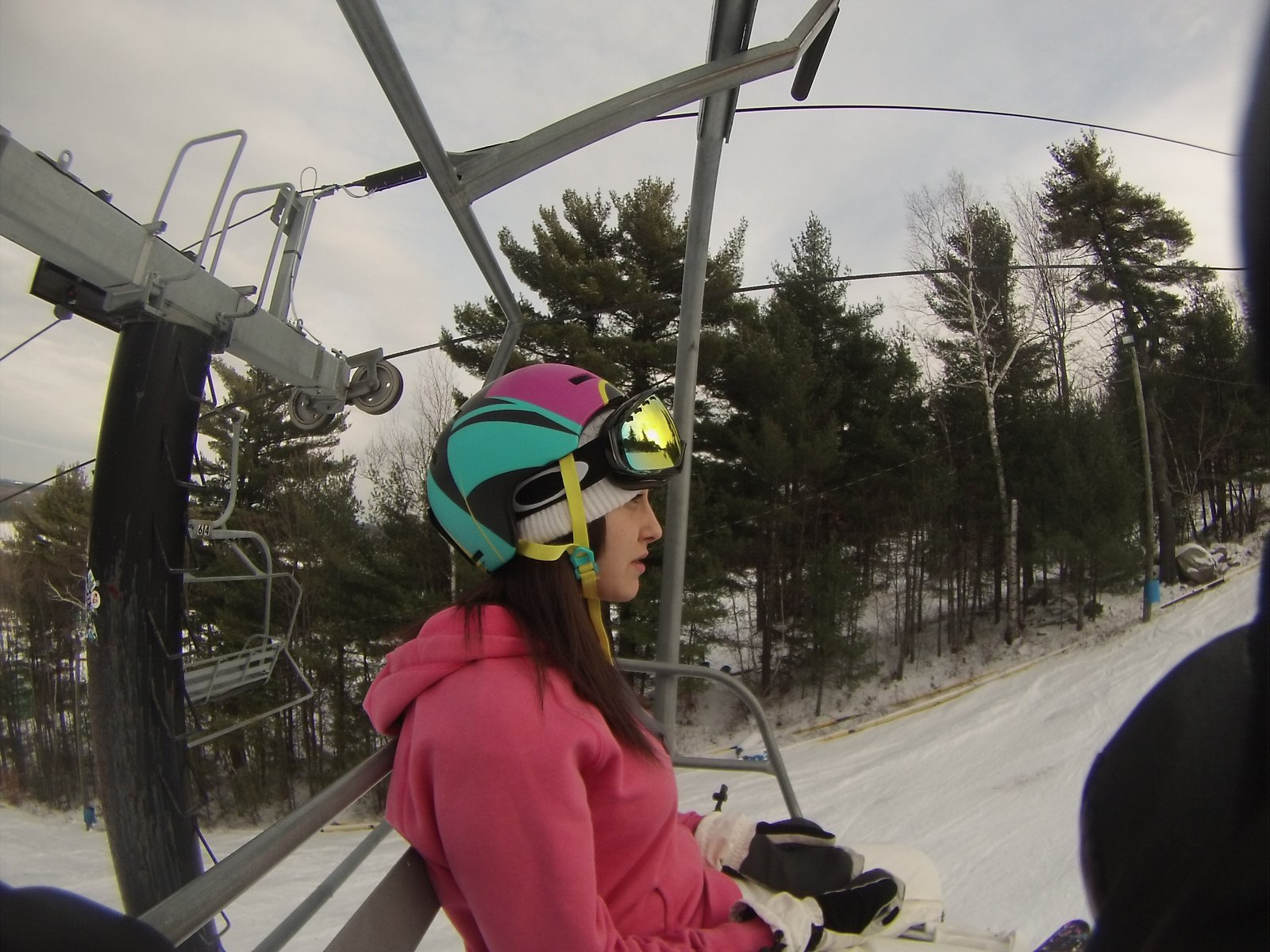 Hannah Brutman on the Chairlift