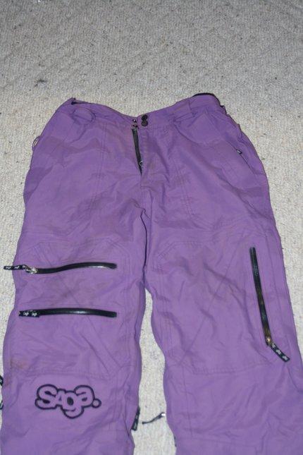 front of SAGA pants