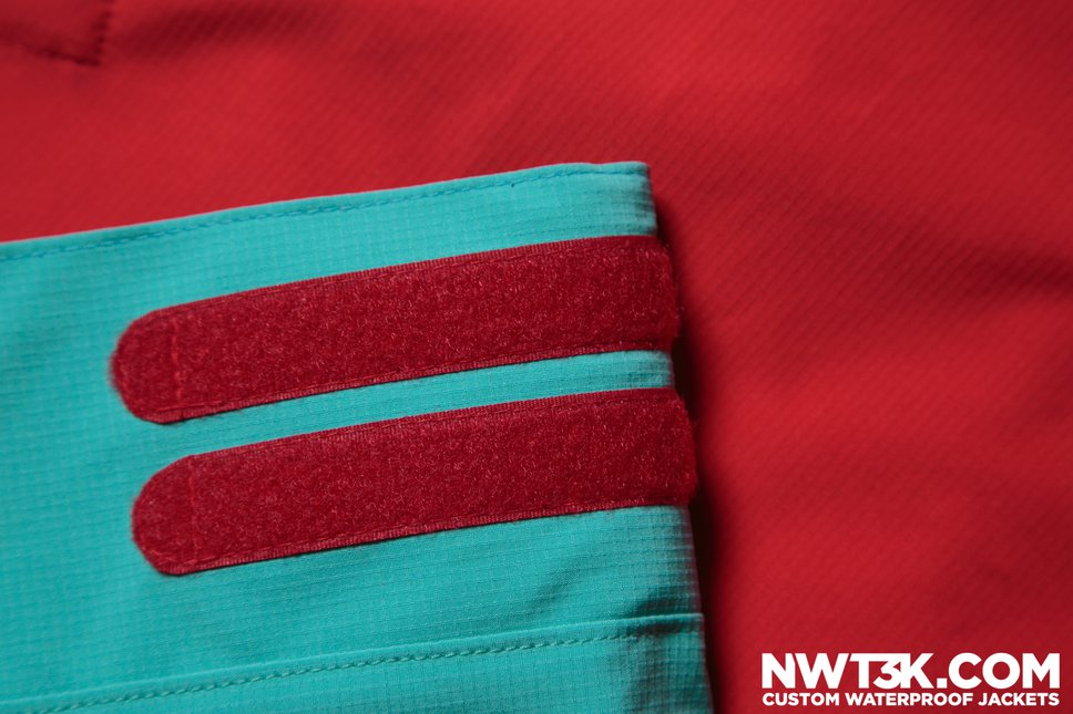 red velcro on teal arm | NWT3K.com