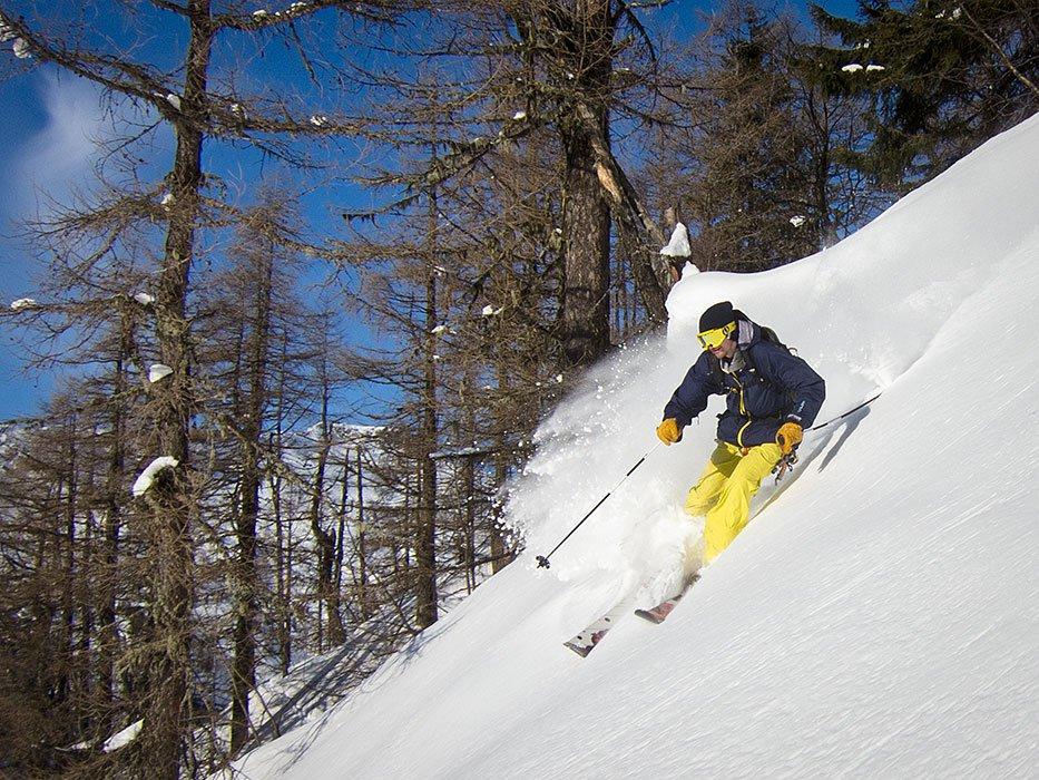 Tour to deep sugary snow