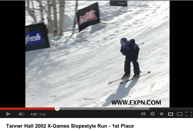 TANNER Xgames slopestyle steeze 2002