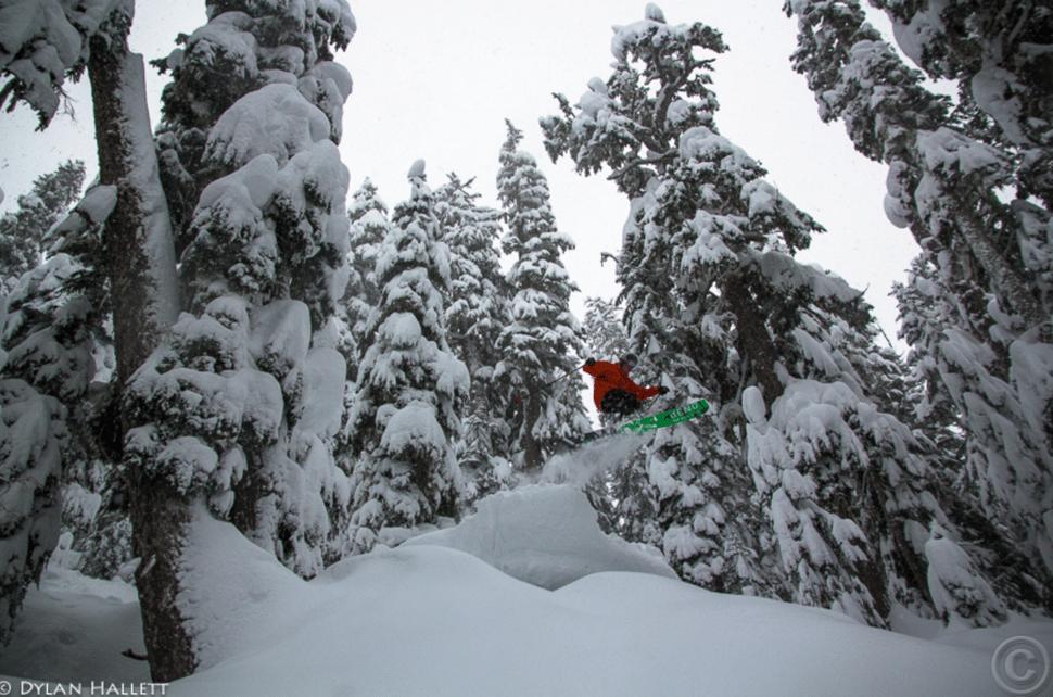 December pow skiing