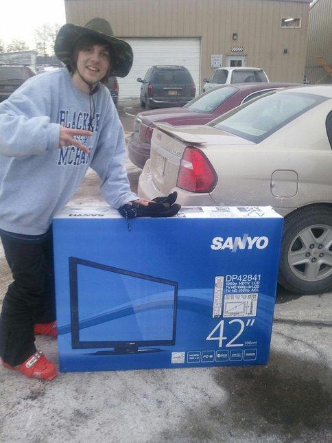 I won a tv!