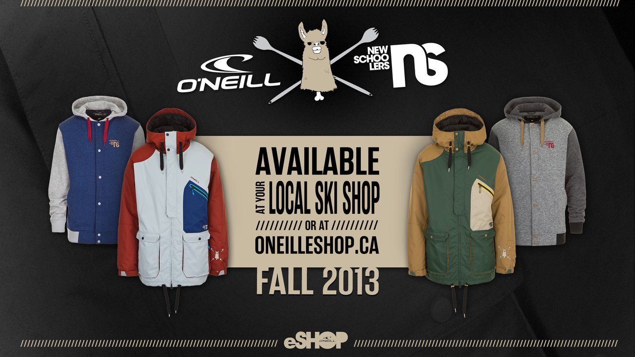 O'Neill & Newschoolers Announce Exclusive 2013/2014 Winter Apparel Collection