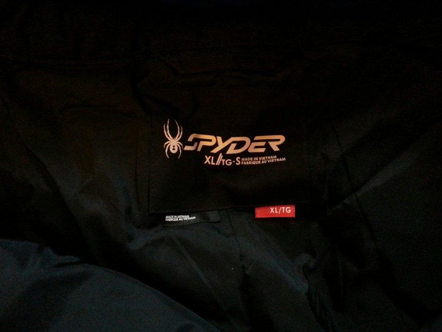 Spyder Pants tag
