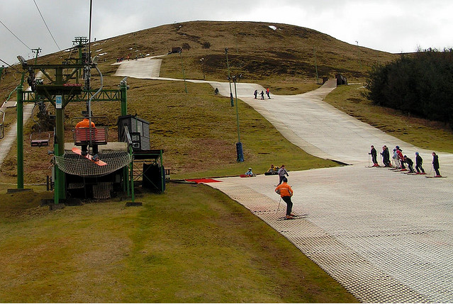 Interesting picture of skiing without snow!