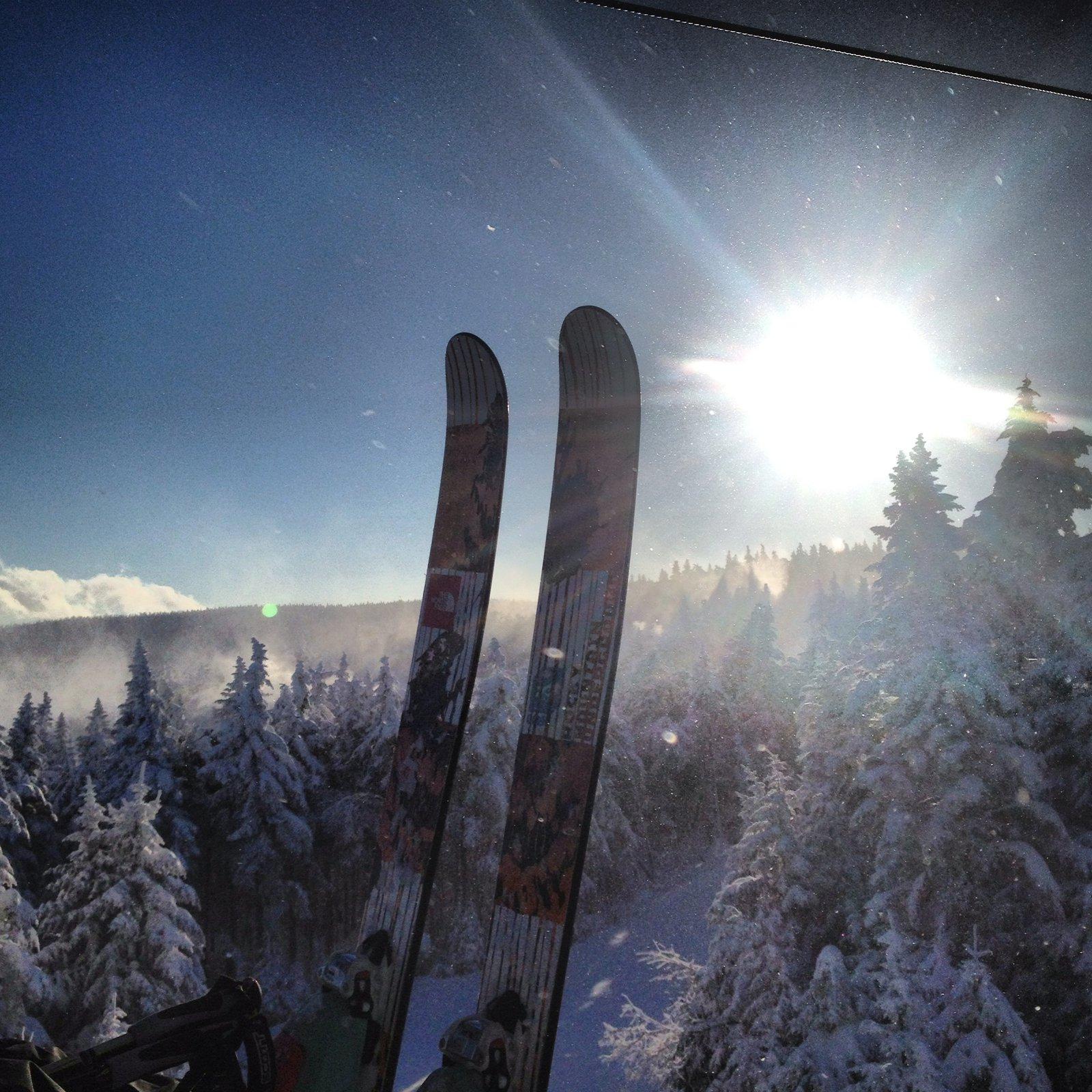 Skis and sun