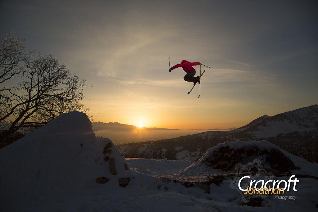 Luke Perin soaring over Salt Lake