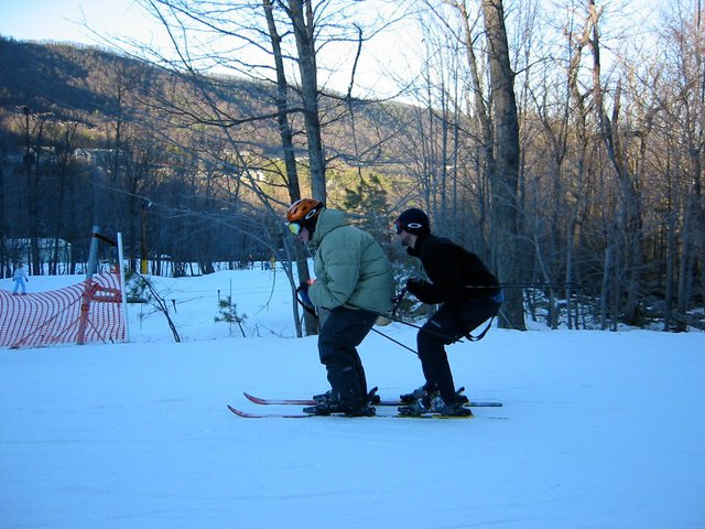 The double binding ski
