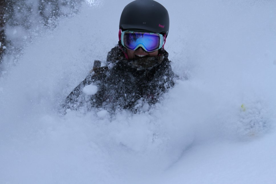 Skiing Pow is Fun!