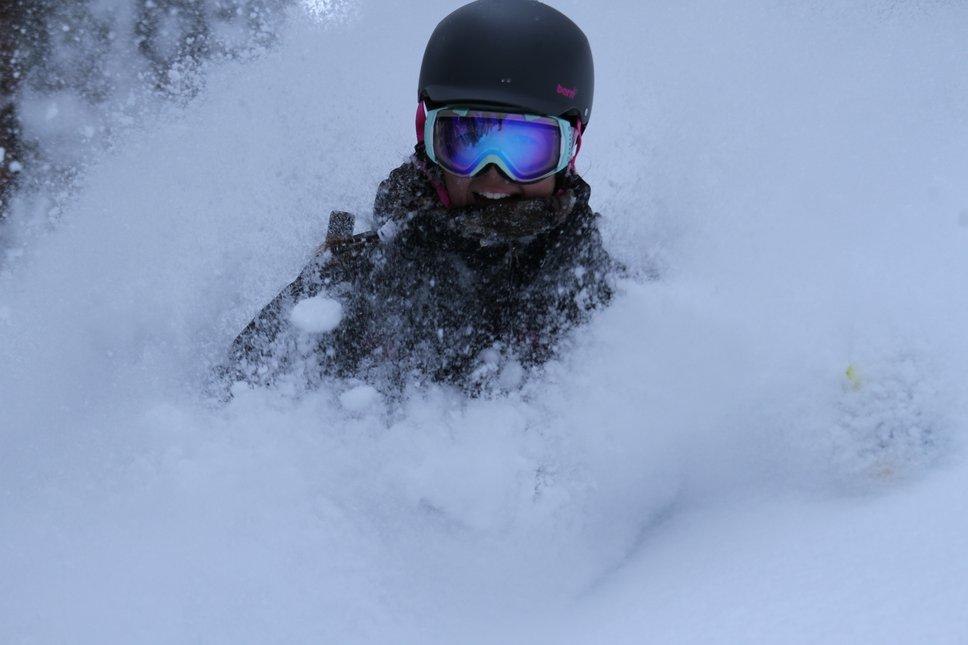 Skiing Pow is Fun!