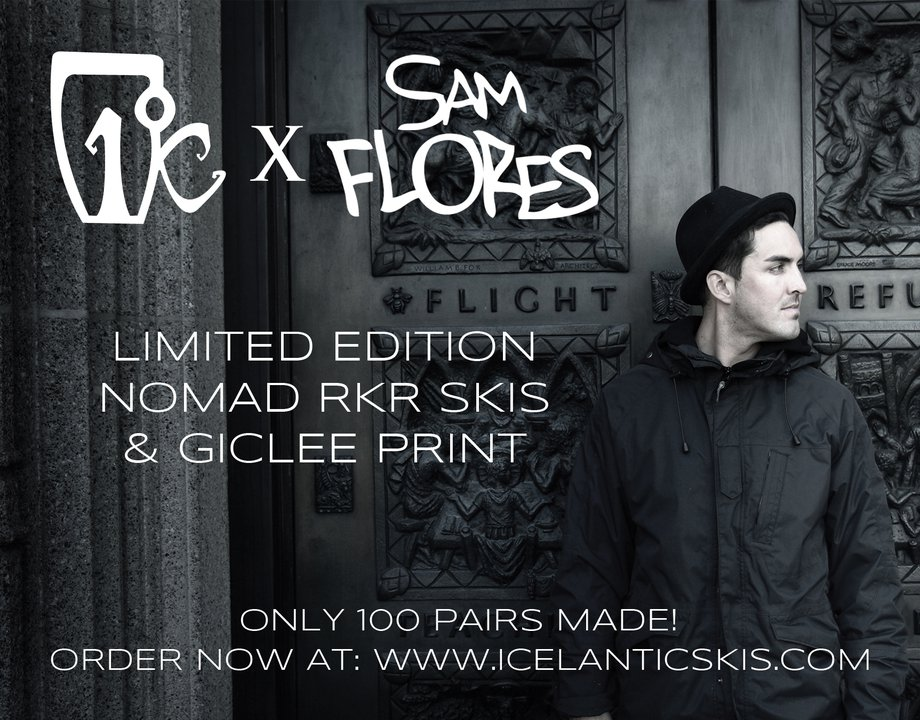 Icelantic Skis New Limited Edition Sam Flores Colab