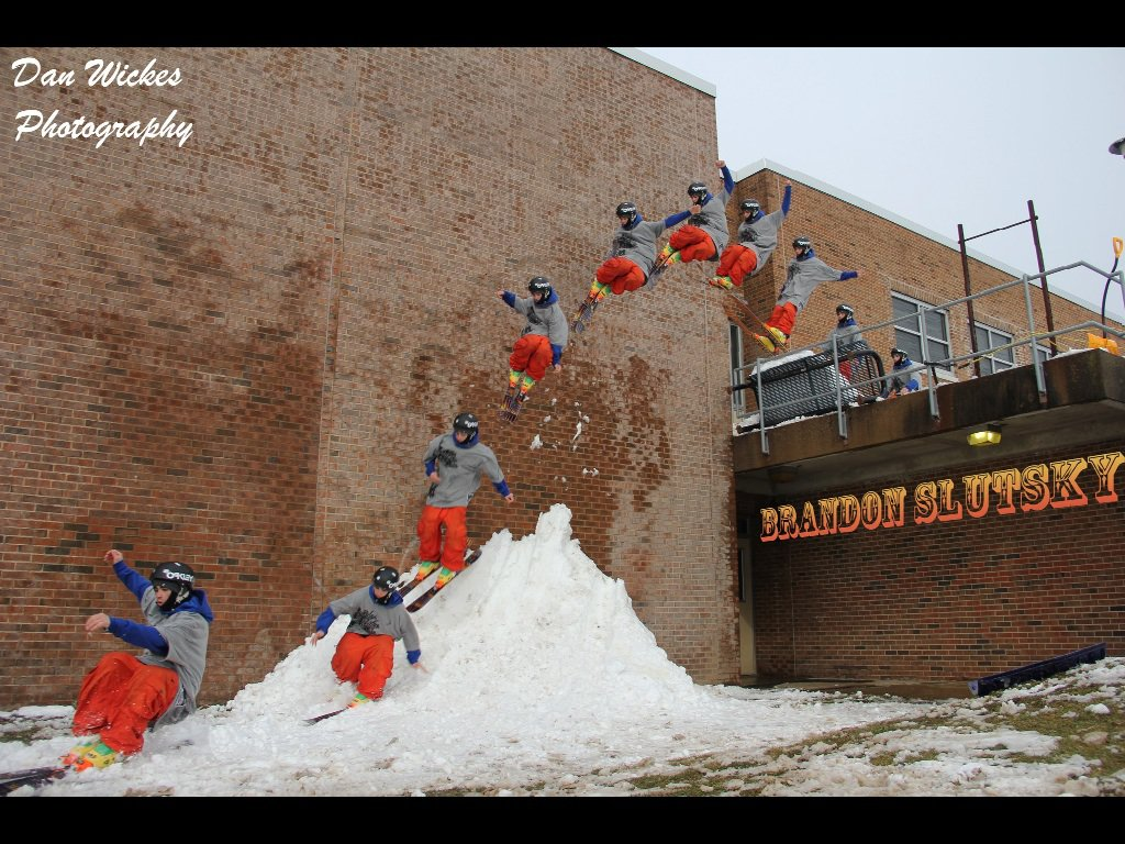 Wall ride at school