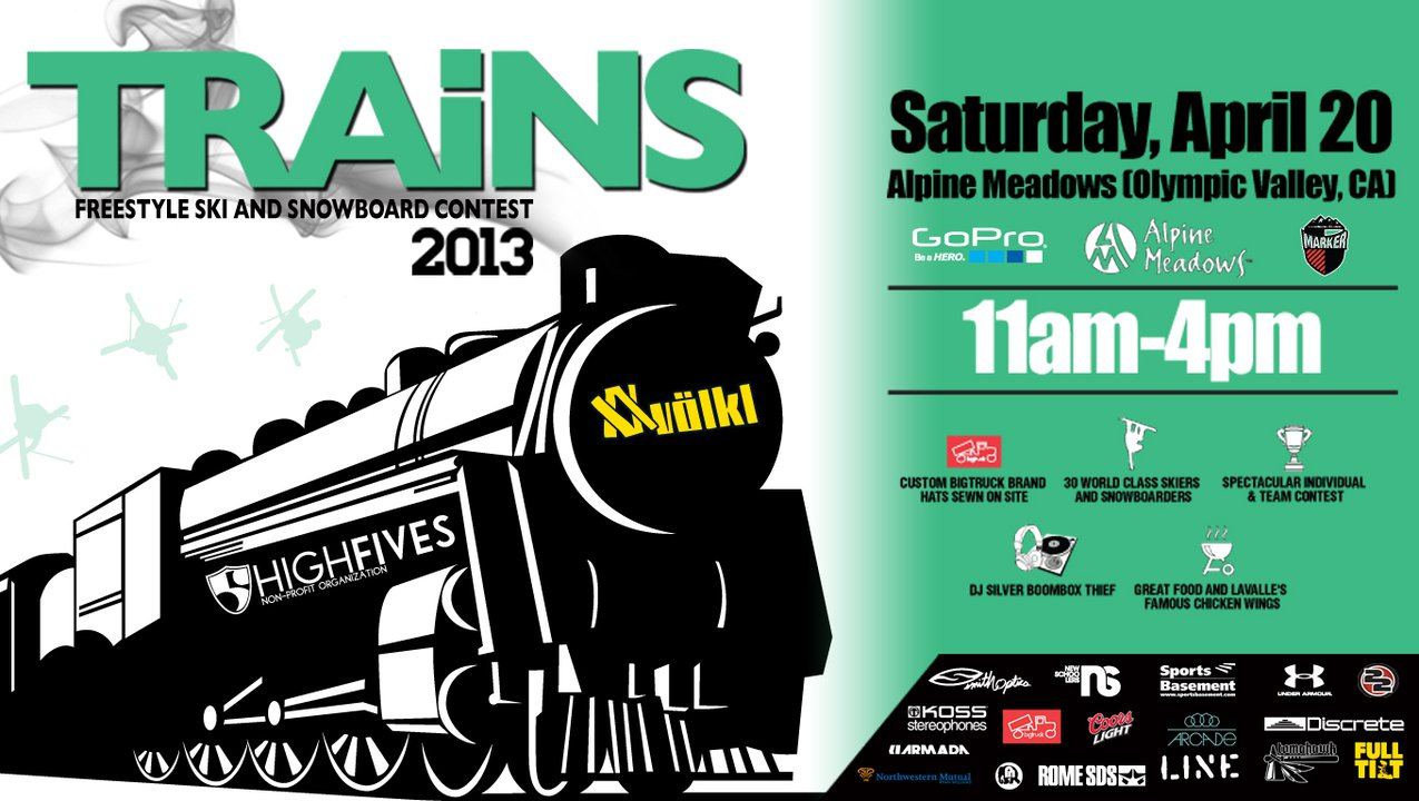 TRAiNS 2013 Scheduled For April 20 At Alpine Meadows