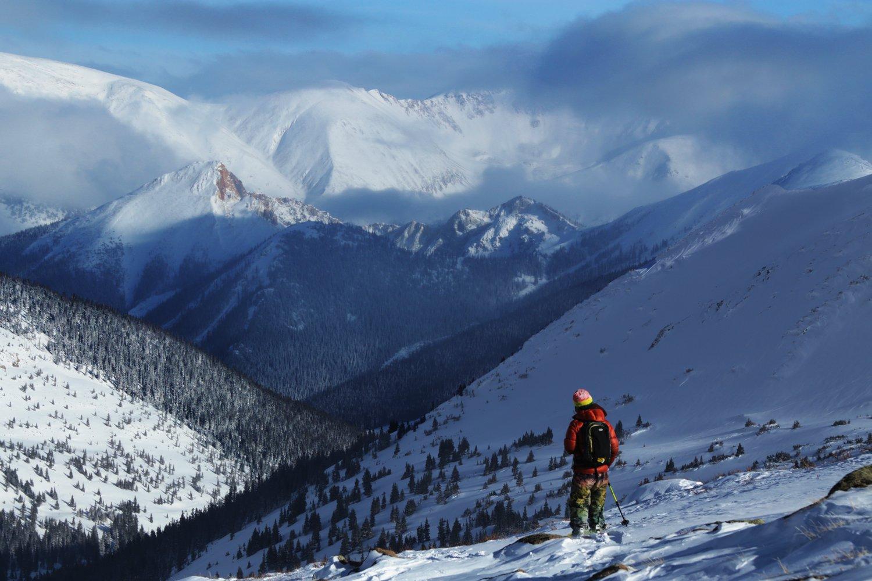Snowmobile Skiing in Jones Pass