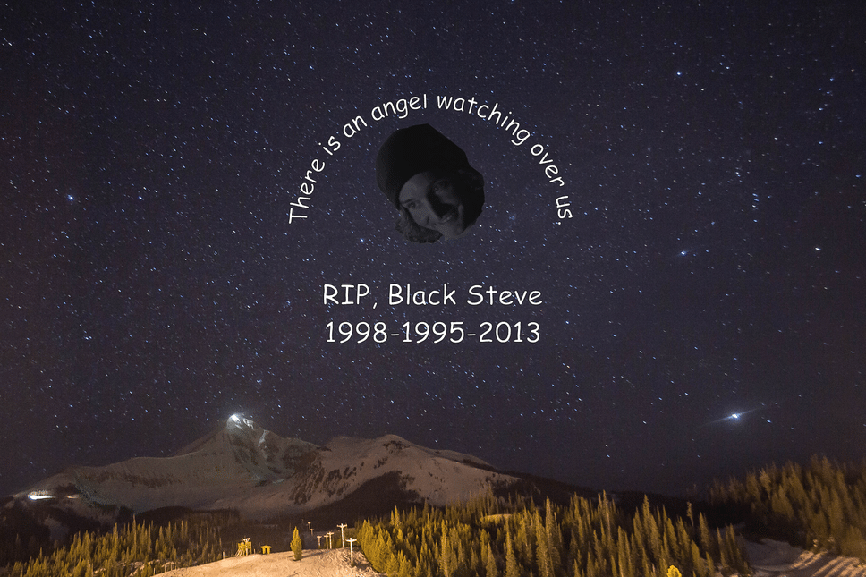 RIP, Black Steve