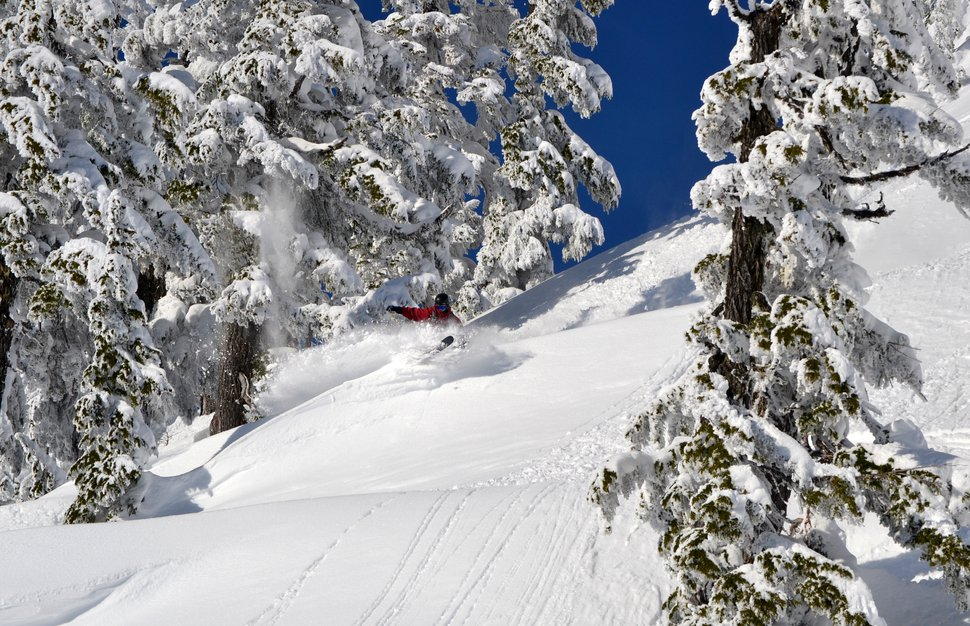 snow skiing