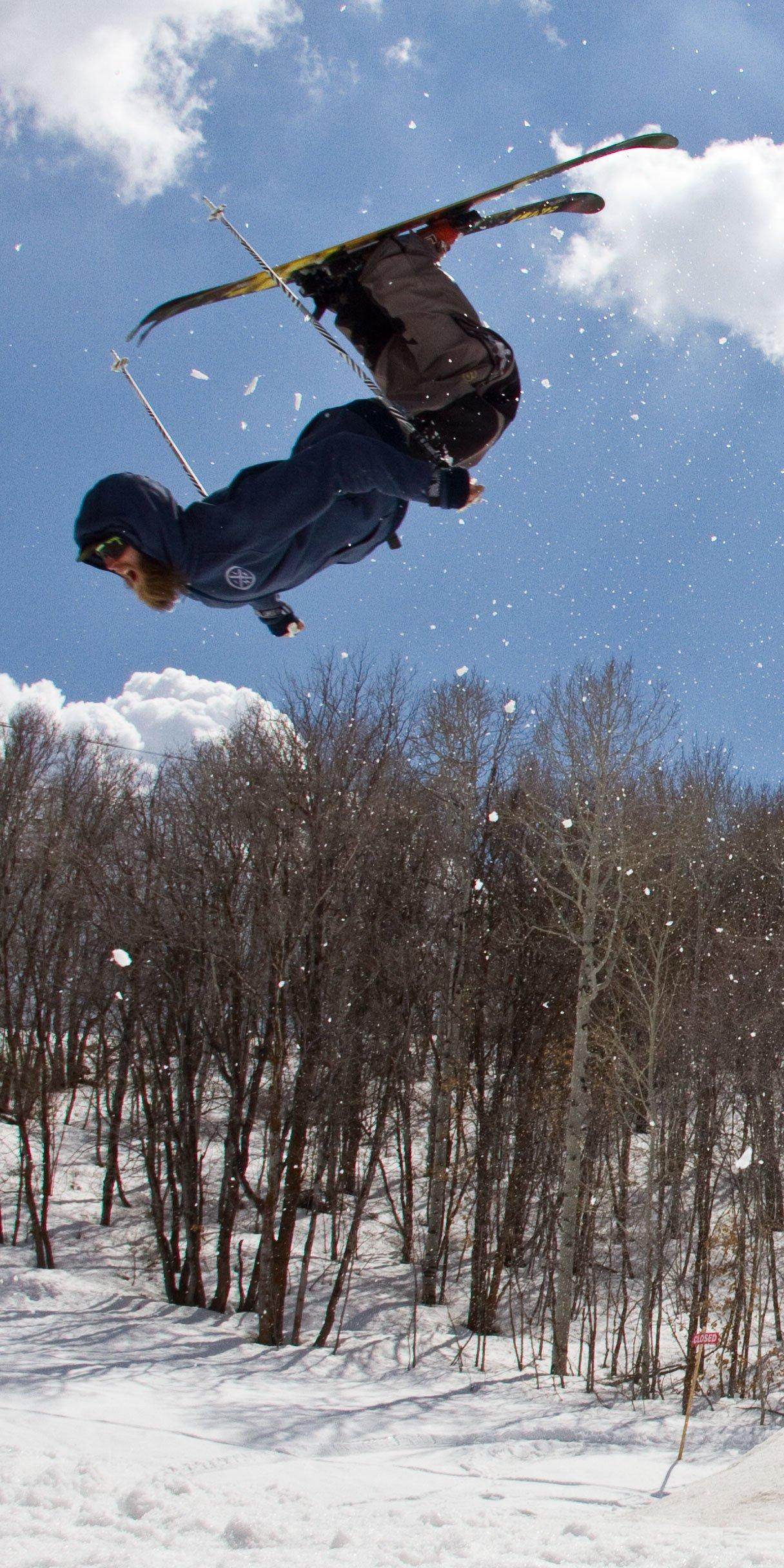 Witt Foster Beard Flip at the Line Skis Shoot
