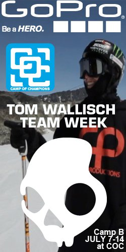 Tom Wallisch 4bi9/GoPro/Skullcandy Team Week at COC