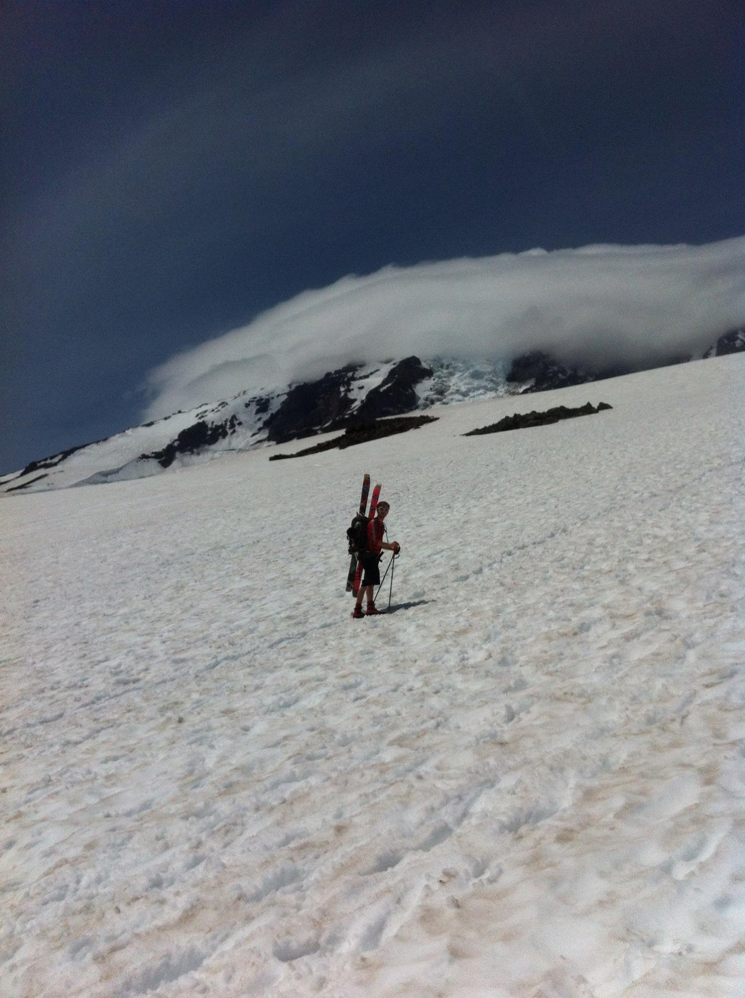 Bootpacking up Mt. Rainier
