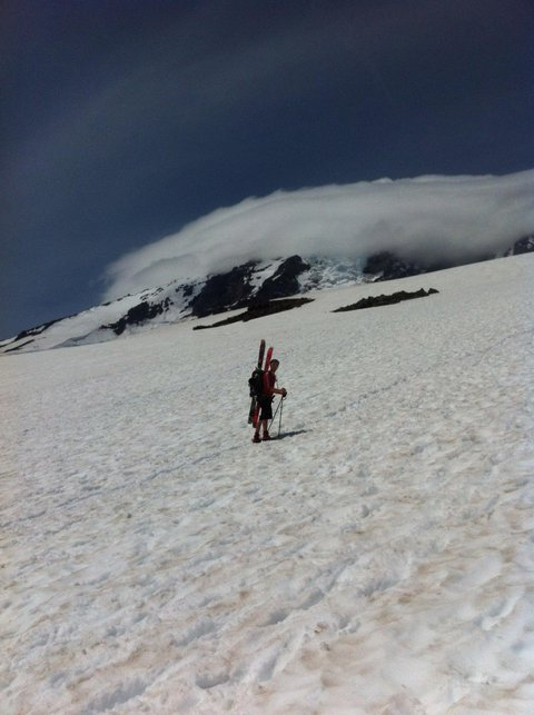 Bootpacking up Mt. Rainier