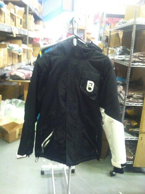 Black Jacket with Black n' White Sleeve