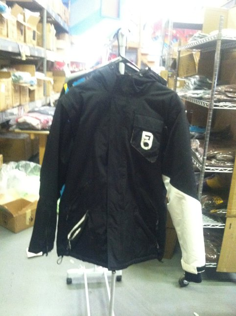 Black Jacket with Black n' White Sleeve