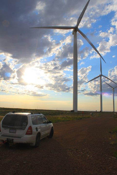 wyoming wind mills and 300hp Subaru