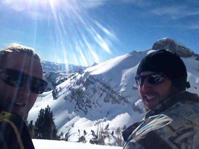 Top of backside Cody Peak