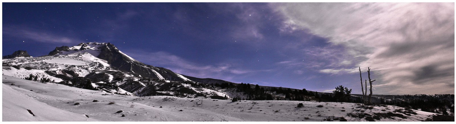Mt. Hood at night