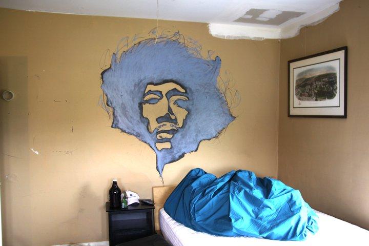 Huge Jimi Hendrix Portrait