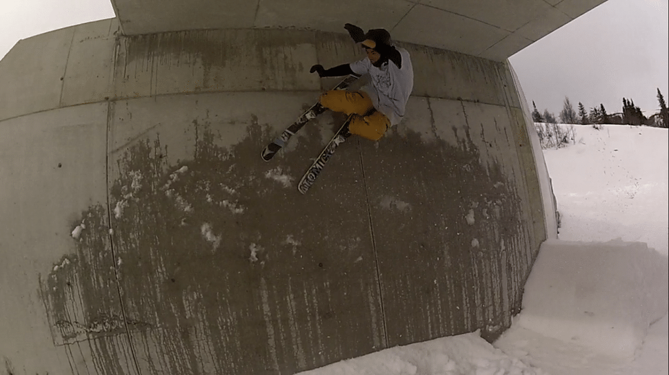 Wallride under a bridge