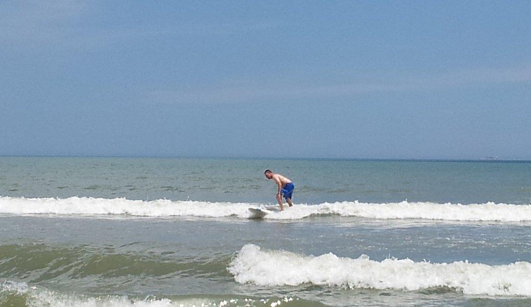 Surfing really small break in Fla.